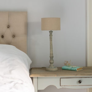 Table Lamp Freda French Grey with Shade