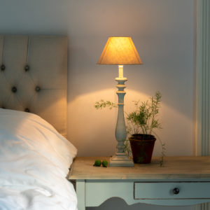 Table Lamp Beatrix French Grey with Shade