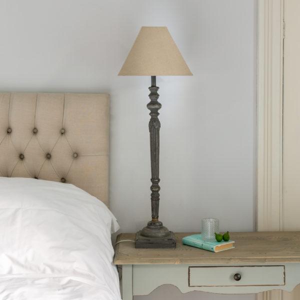 Helga Midi Lamp Antique Dark Grey with Shade