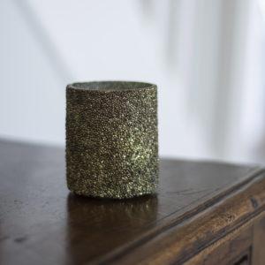 Antique Green Textured Votive