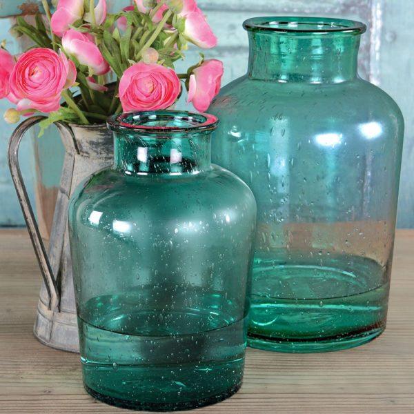 Glass Vase Smoke Blue