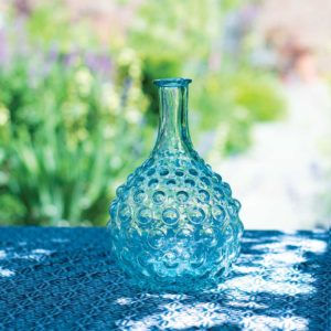 Glass Stem Vase Bubbles Small