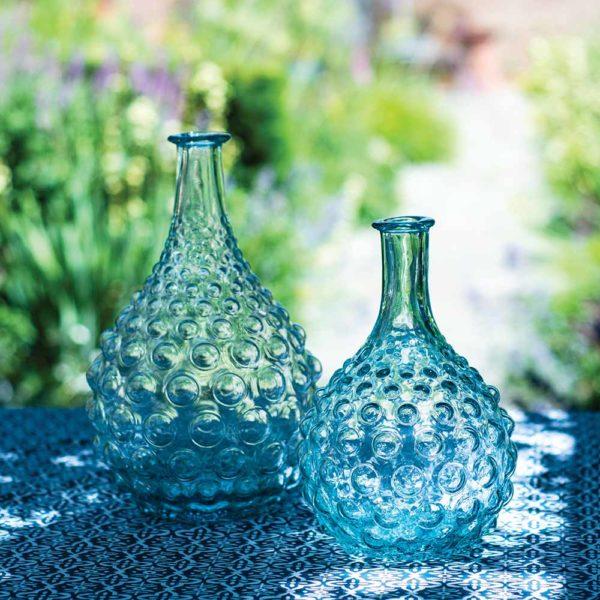Glass Stem Vase Bubbles
