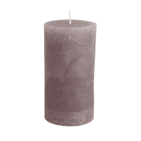 Rustic Pillar Candle Latte
