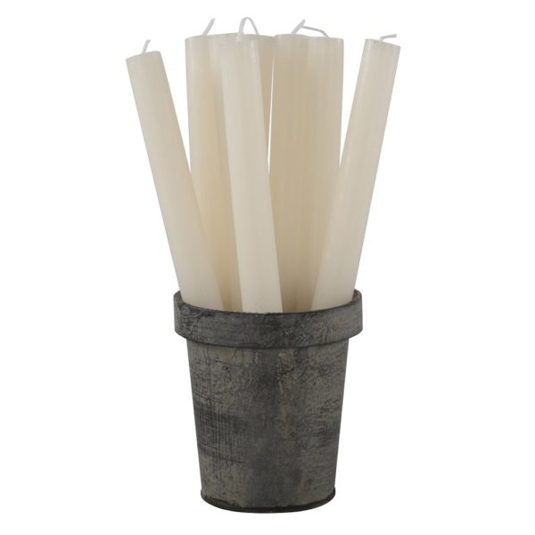 Rustic Dinner Candle Ivory