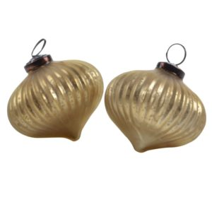 Ribbed Onion Decoration Matt Gold