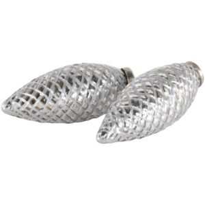 Fir Cone Decoration Antique Silver