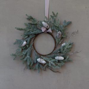 Winter White Cone Wreath