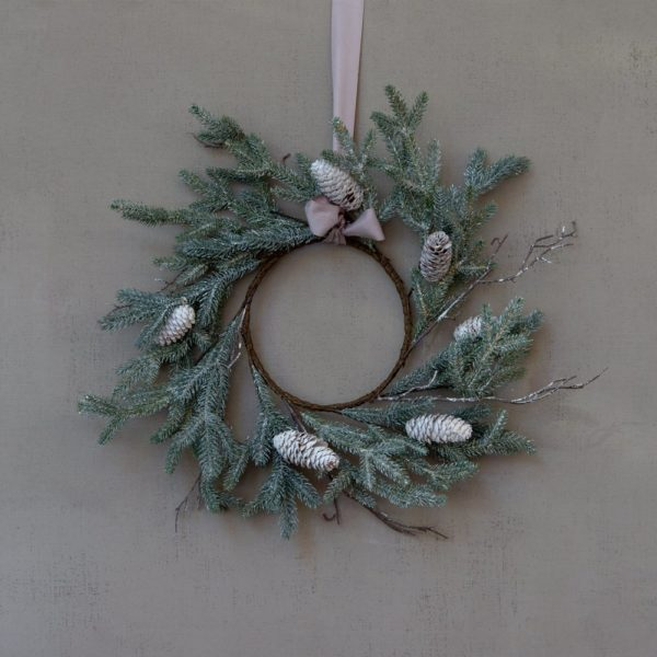 Winter White Cone Wreath