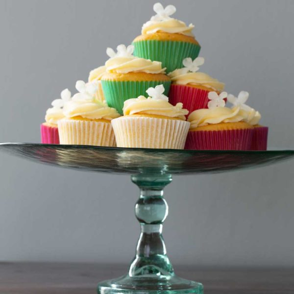Large Tall Cake Stand Recycled Glass
