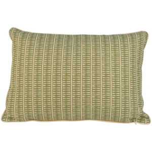 Cushion Lima Olive with Ecru Piping