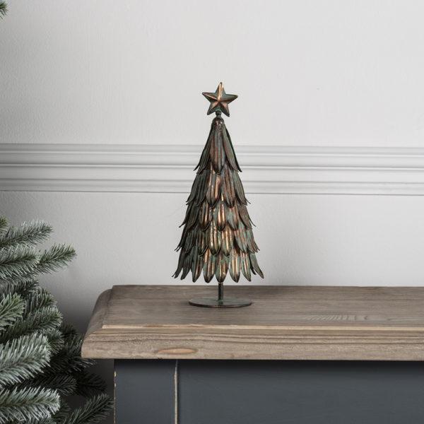 Christmas Tree Vintage Metal Small