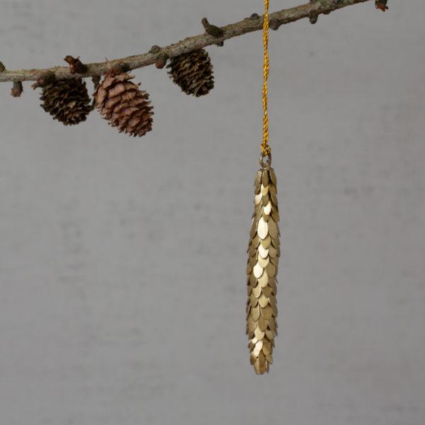 Antique Fir Cone Gold Thin