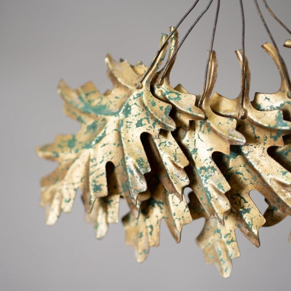 Bunch Of Leaves Christmas Decoration Gold