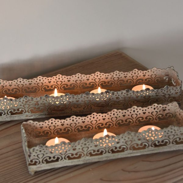 Candle Tray Fiesta Large 35x7x5cm