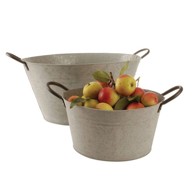 Oval Bucket with Handles Extra Large