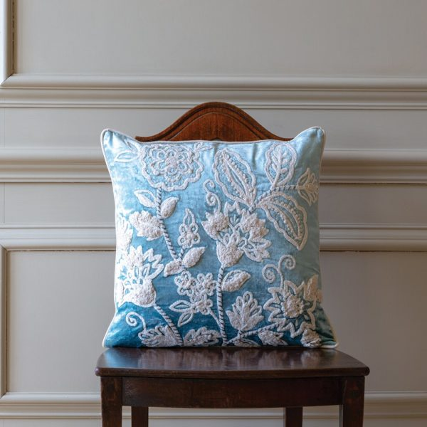 Cushion Tapestry Bloom Blue