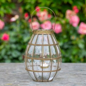 Glass Blown Lantern Clear