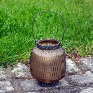 Honeycomb Lantern Amber