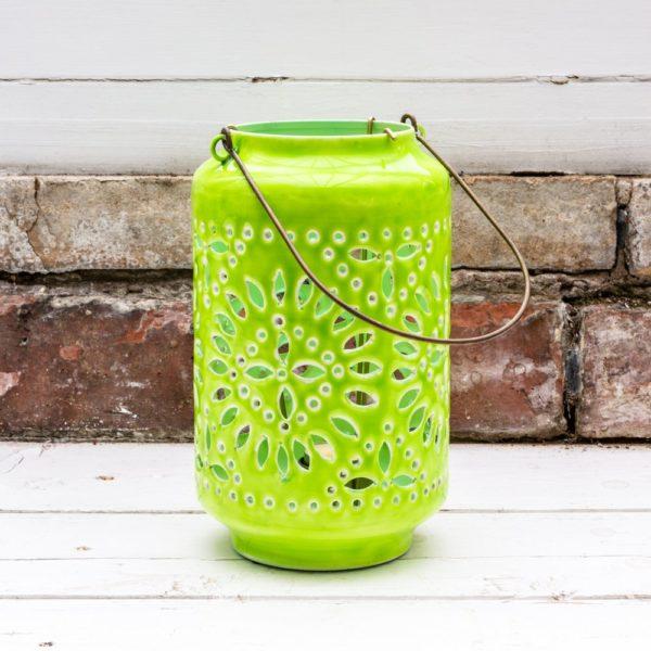 Moroccan Cut-Out Lantern Citron