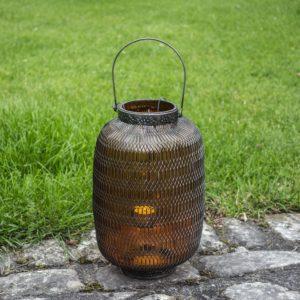 Honeycomb Lantern Large Amber