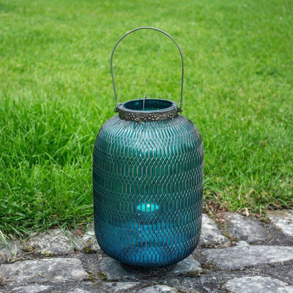 Honeycomb Lantern Large Turquoise