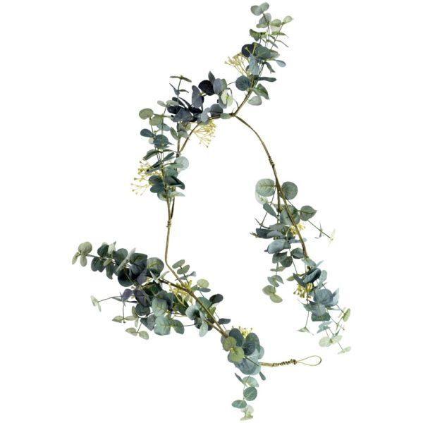 Eucalyptus & White Flower Garland