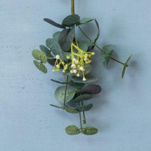 Eucalyptus & White Flower Sprig