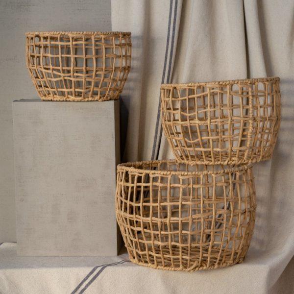 Lobster Baskets Natural Set of 3