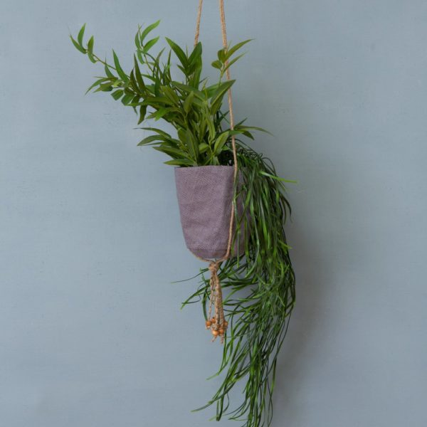 Pot Holder Jute Taupe Small