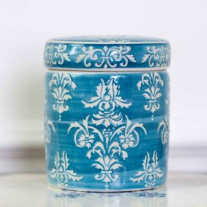 Petit Pot Teal Chinoiserie