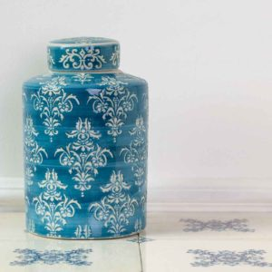 Ginger Jar Teal Chinoiserie