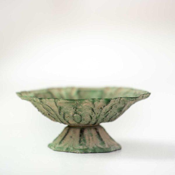 Petit Dish Lotus Antique Green