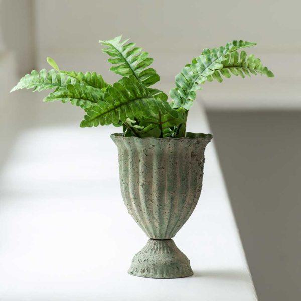 Ribbed Posy Pot Antique Green