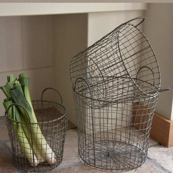 Wire Basket with Handles Set of 3