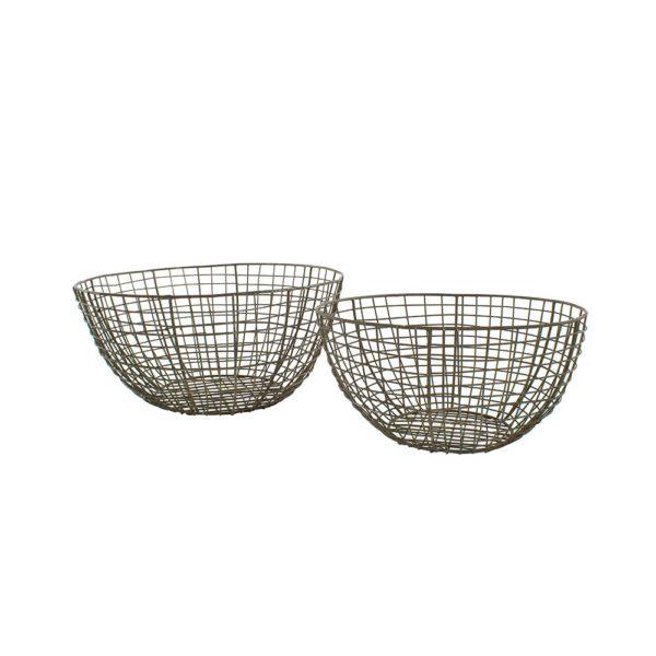 Wire Round Basket Set of 2
