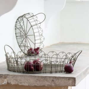 Wire Round Tray Set of 2