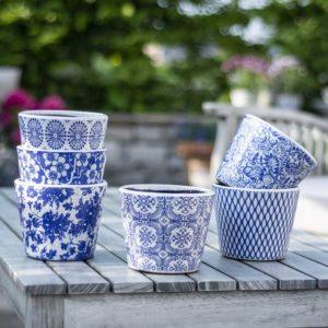 Old Style Dutch Pots Blue Asst 6 Designs