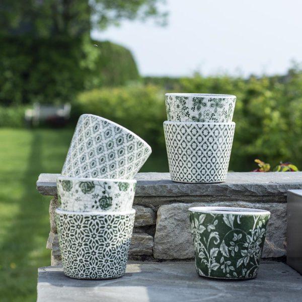 Old Style Dutch Pots Green Asst 6 Designs