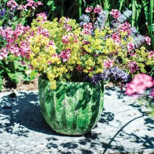 Provencal Oval Vase Forest Green Tall
