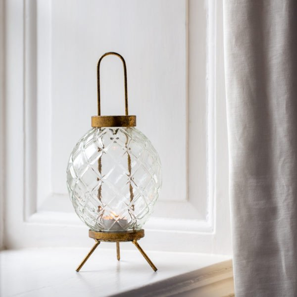 Glass Lantern Vintage Globe Large