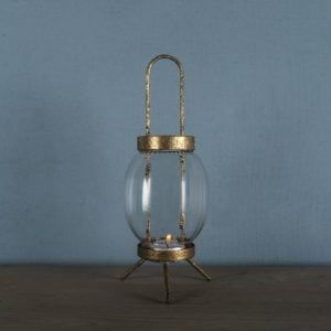 Glass Lantern Vintage Globe Small