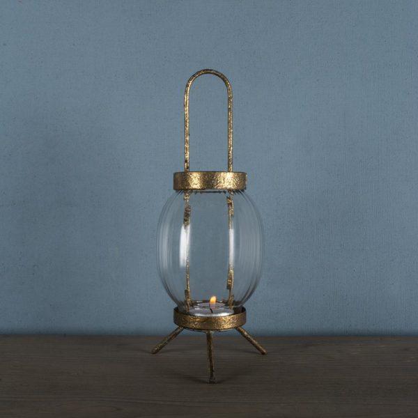Glass Lantern Vintage Globe Small