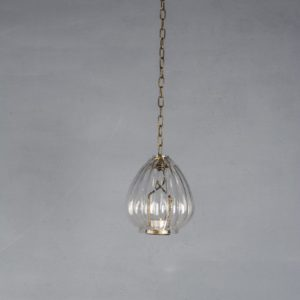 Hanging Glass Lantern Ribbed