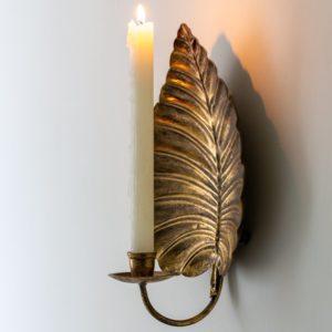 Golden Leaf Sconce