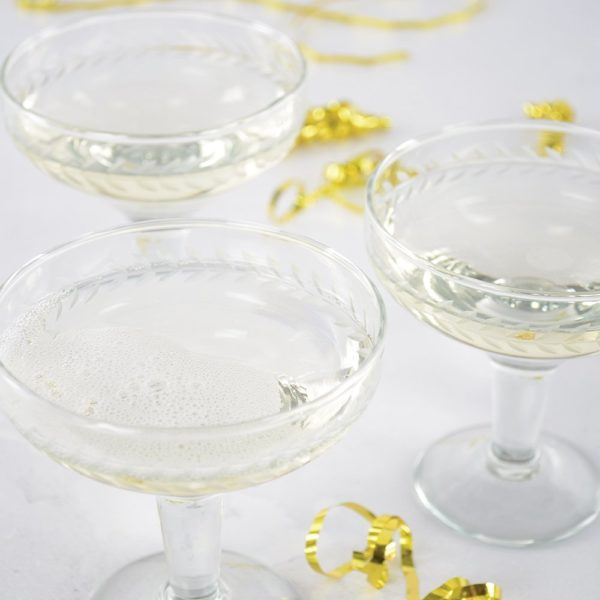 Champagne Coupe Etched