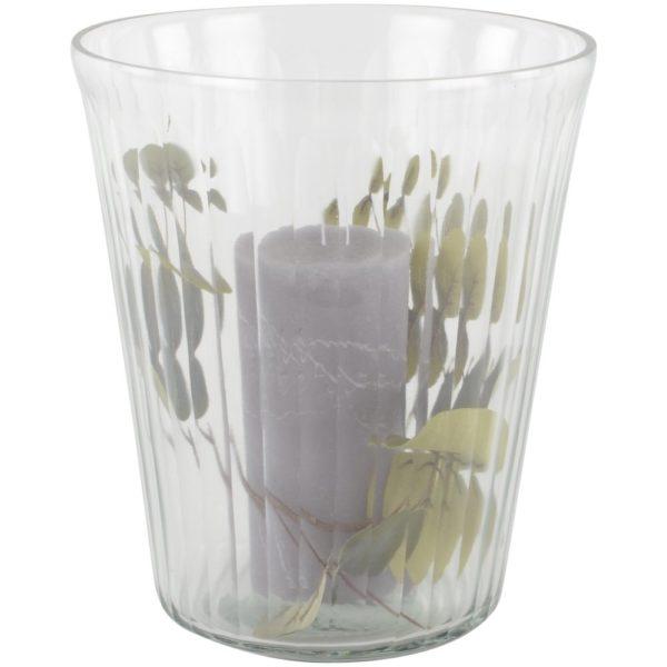 Glass Vase/Hurri Ribble Large 19x23cm