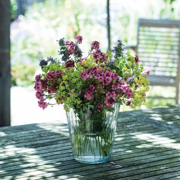 Glass Vase/Hurri Ribble Medium