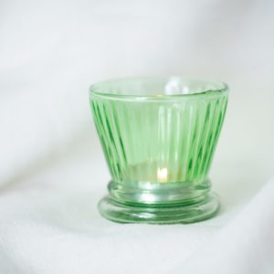 Vintage Botanical Votive Green