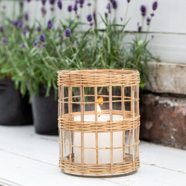 Tealight Votive Glass and Bamboo